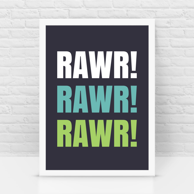 Rawr, kids room frame